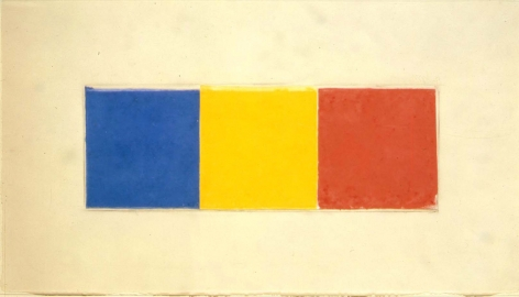 Ellsworth Kelly Blue/Yellow/Red (Collage for Ken), 1976