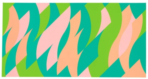 Bridget Riley, Apricot and Pink, 2001