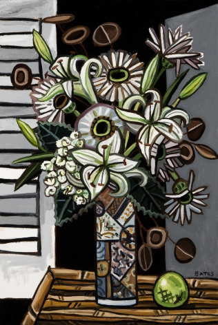 David Bates Night Flowers, 2015