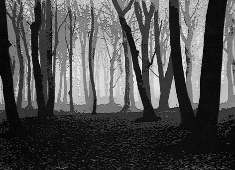 Vik Muniz Pictures of Paper: Woods in November, after Albert Renger-Patzsch