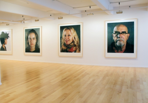 Installation view of Chuck Close: Important Works on Paper from the Past Forty Years, 2013
