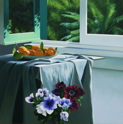 Bruce Cohen Interior with Tangerines and Anemones, 2020