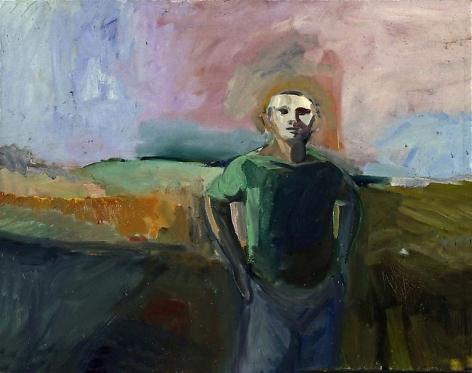 Elmer Bischoff Man and Lavender Sky, 1958