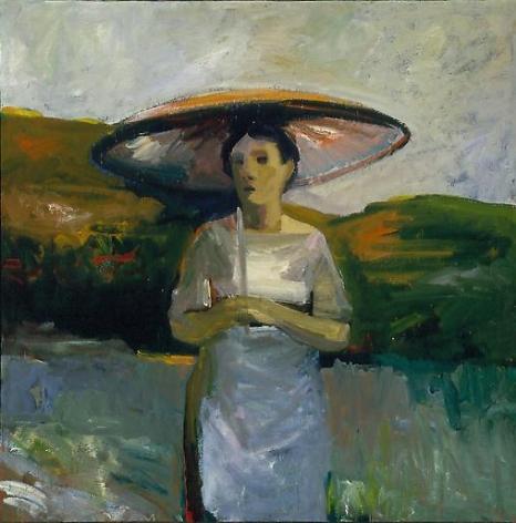Elmer Bischoff Woman with Umbrella