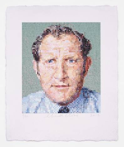 Chuck Close, Nat/Felt Hand Stamp, 2012