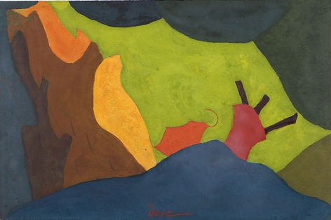 Arthur Dove Study for Cow at Play, 1941