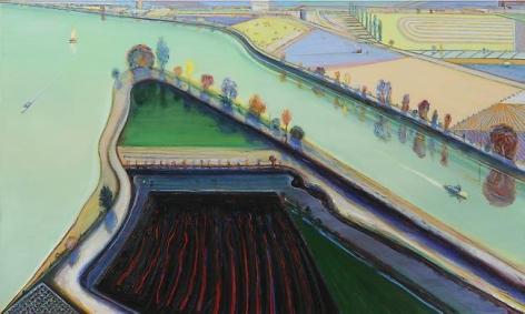 Wayne Thiebaud River Boats