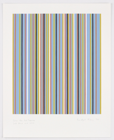 Bridget Riley, Yellow, Blue, Red, Turquoise with Black and White,1982