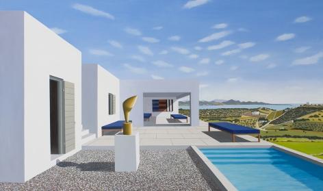 Humble Villa, 2017Oil on panel49 x 84 inches