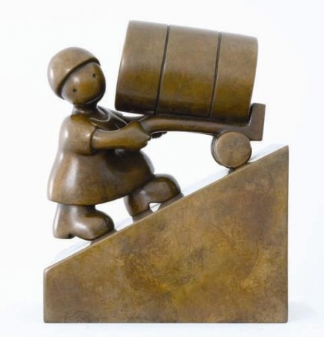 Tom Otterness Woman with Oil Barrel