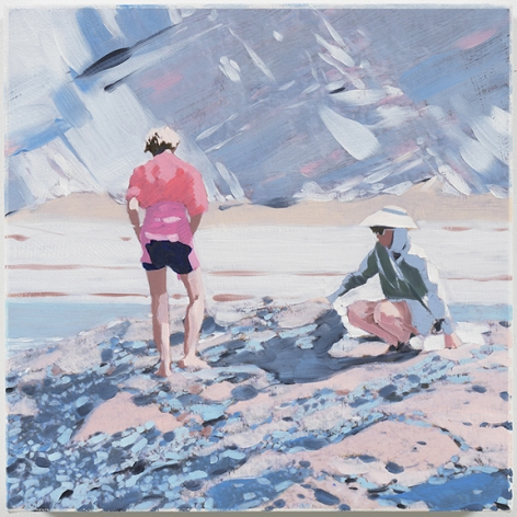 Isca Greenfield-Sanders Rock Cliff (Pink Sweater), 2018