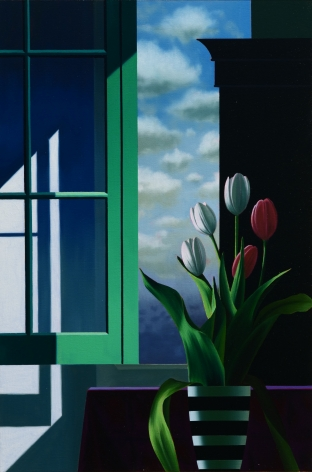 Bruce Cohen Five Tulips in Front of Window, 2020