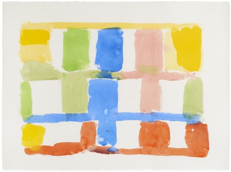 Stanley WhitneyUntitled, 2014Gouache on paper22 1/2 x 30 inches