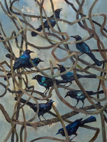 John Alexander Birds and Bramble, 2019
