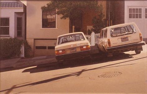 Robert Bechtle Two Volvos