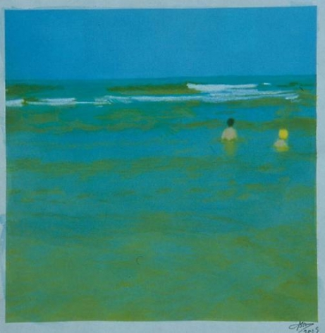 Two Bathers (Blue)