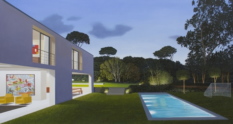 Back Yard, 2017Oil on panel49 x 96 inches