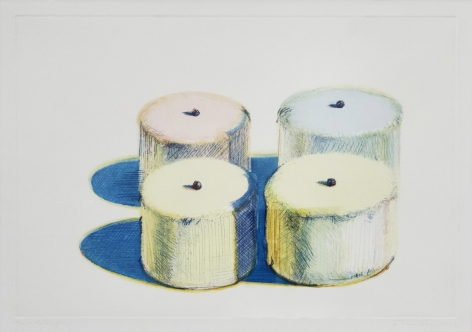 Wayne Thiebaud Four Cakes, from Recent Etchings I, 1979