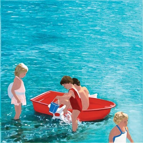 Red Boat Beach, White Suit (Blue)