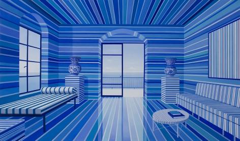 Blue Striped Room, 2017