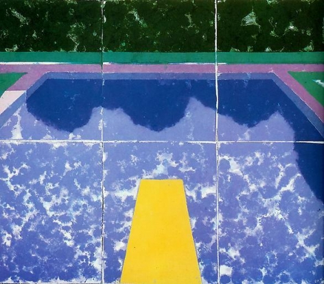 David Hockney Swimming Pool with Reflection (Paper Pool 5)