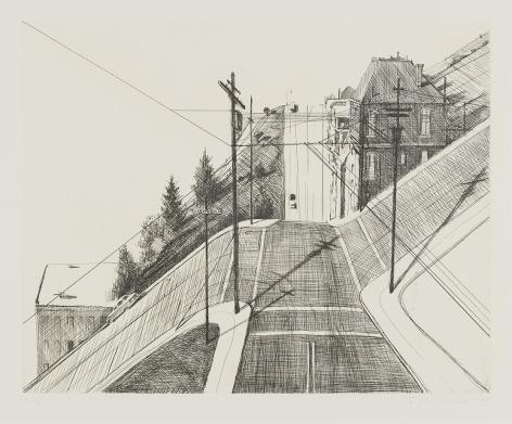 Wayne Thiebaud Down Mariposa, from Recent Etchings II, 1979