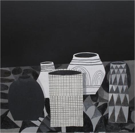 Jonas Wood New Pot Still Life, 2009