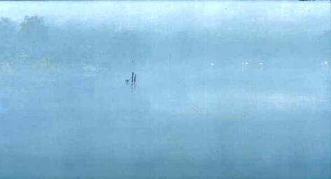 Stephen Hannock Morning Fog: Green Light,2001