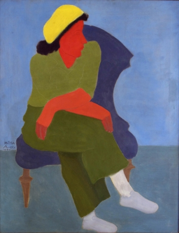 Milton Avery, Girl with Folded Arms, 1944