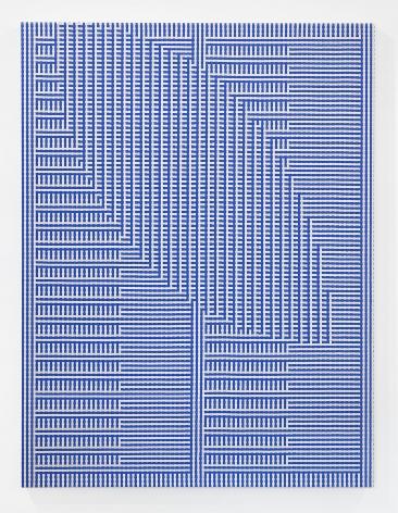 Tauba Auerbach, ShadowWeave - Comb/Void I, 2013