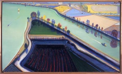 Wayne Thiebaud River Boats, 2001