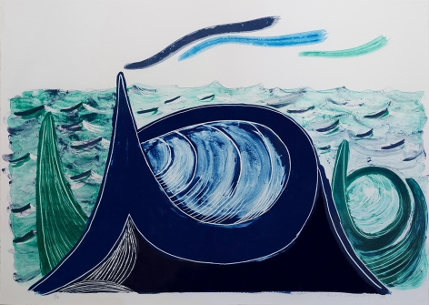 David Hockney The Wave, A Lithograph, 1990
