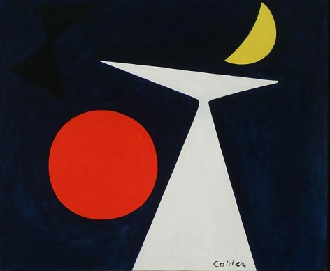 Alexander Calder A Manhattan (On a blue ground)