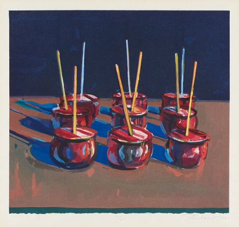 Wayne Thiebaud Candy Apples, 1987