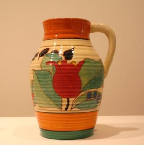 Red Tulip single-handled lotus jug