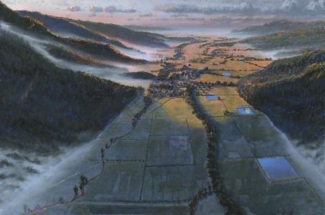 Stephen Hannock Study for Recent Adventure in Art in the Napa Valley (Mass MoCA #117), 2009