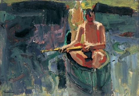 David Park Canoe 1957 oil on canvas 36 1/4 x 51 1/2 inches