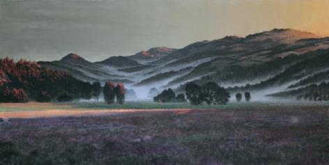 Stephen Hannock Valley Vineyard Fog Ribbons, Silverado Dawn (Mass MoCA #184), 2013