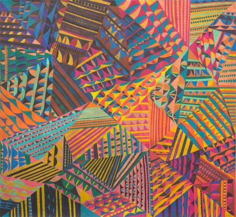 William J. O'BrienUntitled, 2016Colored pencil on paper60 x 65 inches