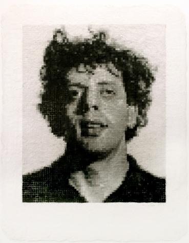 Chuck Close Phil I (White), 1982