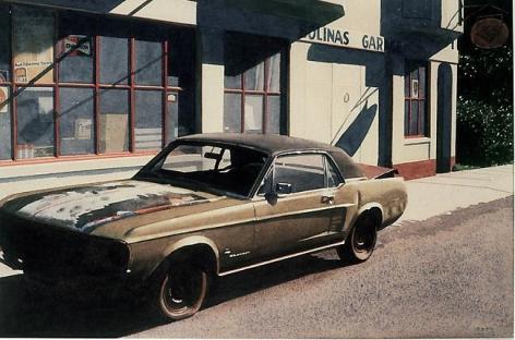 Robert Bechtle Bolinas Mustang