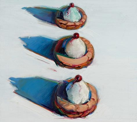 Wayne Thiebaud Cherry Tarts, 1965-1976