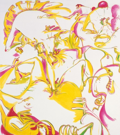 Sue Williams, Purple, Green and Yellow, 1997