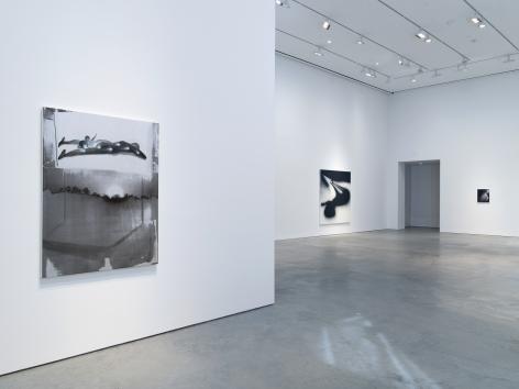 Installation view: Tala Madani, Corner Projections, 303 Gallery, New York, 2018