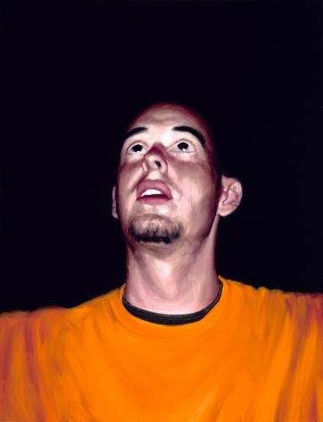 Tim Gardner, Untitled (Sto looking up, orange shirt), 1999