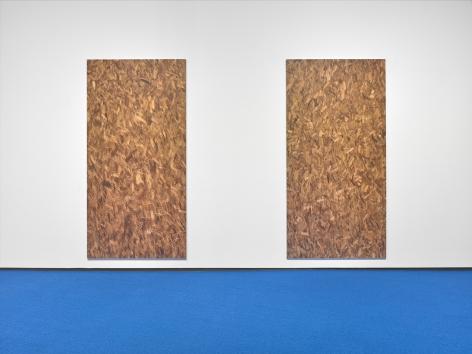 Jacob Kassay, Installation view: Footage, Hallwalls Contemporary Art Center, Buffalo, 2019