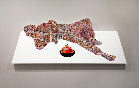 Doug Aitken, Figure with fruit bowl