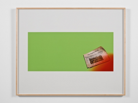 Larry Johnson, Untitled Green Screen Memory (Fires Still Rage), 2010