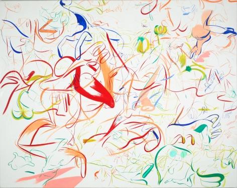 Sue Williams, Red Flouncy (Go Team), 1997