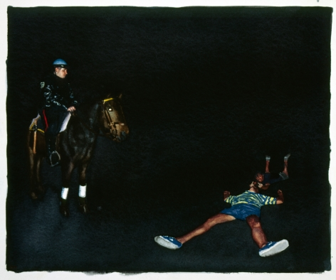 Tim Gardner, Untitled (Nick and Lars with Mounted Policeman), 1999
